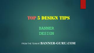 Top 5 design tips of banner design