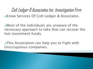 Voice Against Injustice with Colt Ledger & Associates Inc.