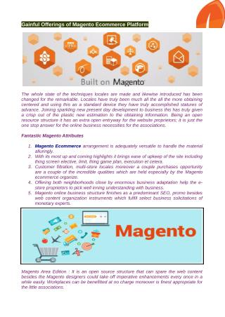 Magento ecommerce stages made use of by the dealers around the world