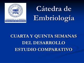 C tedra de Embriolog a