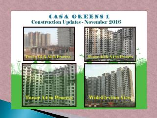Casa Greens 1 boasts of Amazing Elevation Features !