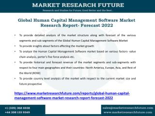 Human Capital Management Software Market Research Report- Forecast 2022