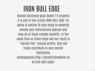 IRON BULL EDGE