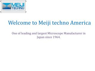 Largest Microscope Manufacturer in Japan