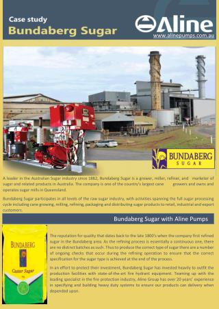 Bundaberg Sugar Case Study - Aline Pumps