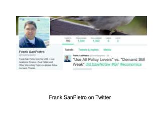 Frank SanPietro on Twitter