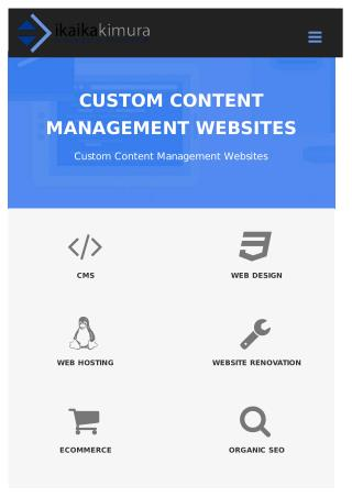 Custom Content Management Websites