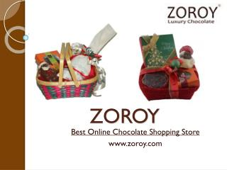 Online Christmas & New Year Chocolate Gift in India – Zoroy.com