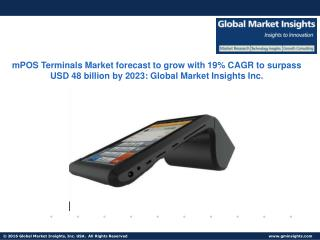 mPOS Terminals Market share forecast to grow at 19% CAGR from 2016 to 2023