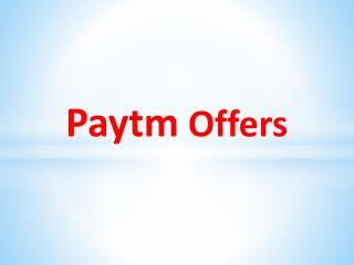 Paytm Big Cashback Sale