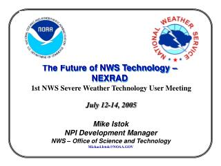 The Future of NWS Technology   NEXRAD