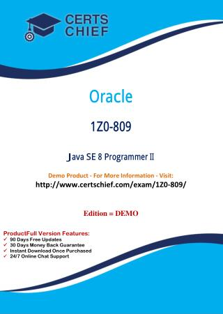 1Z0-809 Exam Certification Test