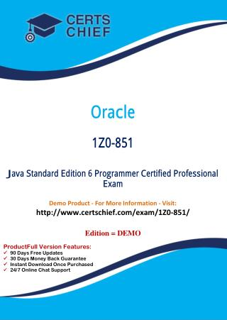 1Z0-851 Exam Certification Test