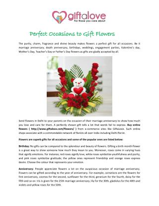 Perfect Occasions to Gift Flowers