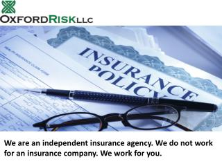 Automobile insurance services