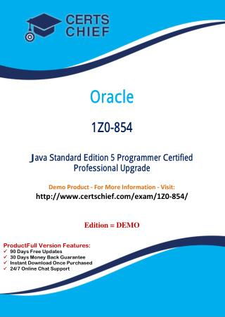 1Z0-854 Exam Certification Test