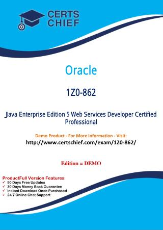 1Z0-862 Professional Certification