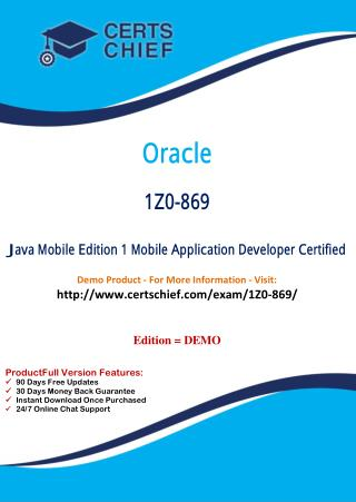 1Z0-869 Professional Certification