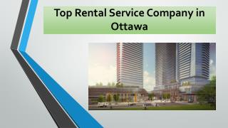 Top Rental Services Company in Ottawa Area