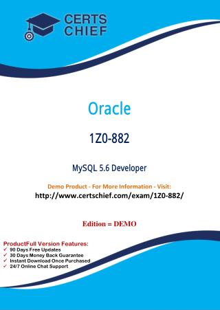 1Z0-882 Professional Certification