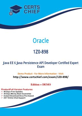 1Z0-898 Professional Certification