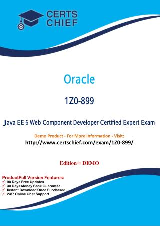 1Z0-899 Professional Certification