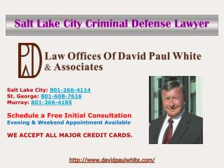 Salt Lake City Criminal Defense Attorney
