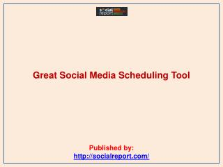 Great Social Media Scheduling Tool