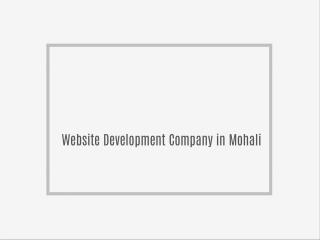 Website Design Company in Mohali