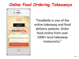 Online Food Ordering Takeaways