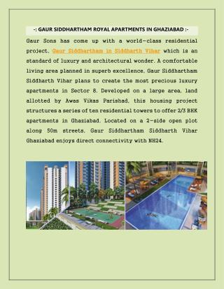 Residential Apartments in Ghaziabad at Gaur Siddhartham