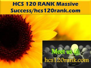 HCS 120 RANK Massive Success/hcs120rank.com