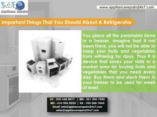 Best Refrigerator Repair Service in Washington DC