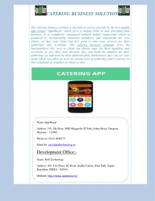 Grow Your Catering Business with Catering App
