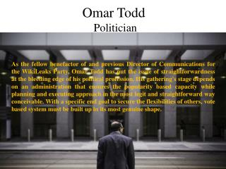 Omar Todd - Politician