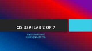 CIS 339 ILAB 2 OF 7