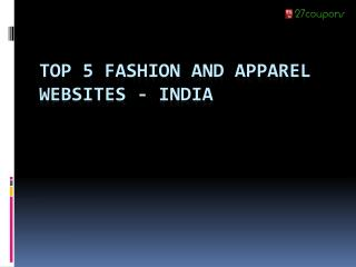 Top 5 fashion and apparel websites