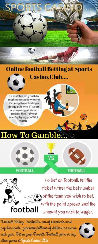 Online football Betting at Sports Casino.Club