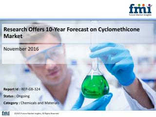 Cyclomethicone Market Growth and Forecast 2015-2025