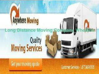Long Distance Moving Company Wheaton