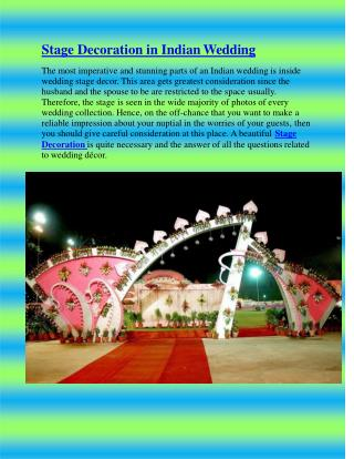 Stage Decoration in Indian Wedding