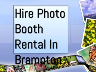 Hire Photo Booth Rental In Brampton