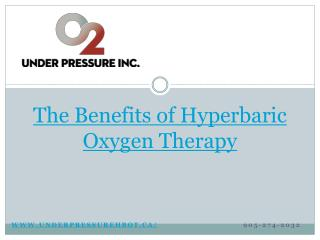 The Benefits of Hyperbaric Oxygen Therapy