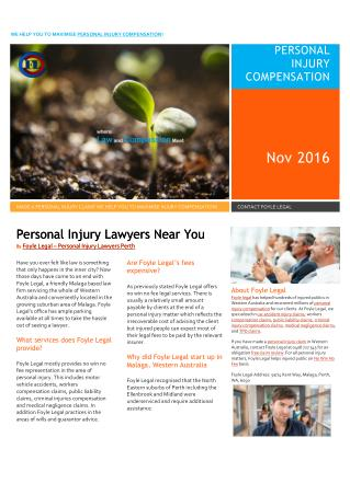 Foyle Legal Personal Injury Lawyer Perth