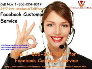 Expert assistance through Facebook customer service 1-866-224-8319call without Any Hassle