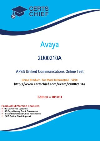 2U00210A Latest Certification Practice Test