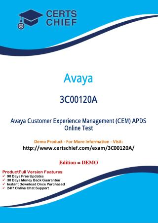 3C00120A Latest Certification Practice Test