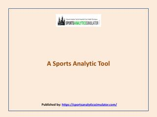 A Sports Analytic Tool