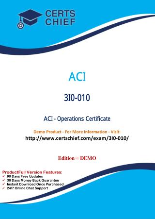 3I0-010 Latest Certification Practice Test