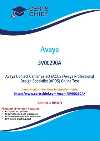 3V00290A Latest Certification Practice Test